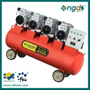 6HP 180L 4 Cylinder high quality piston oil free mute air compressor 184061