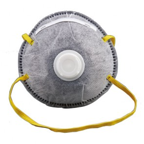 active carbon three layer mask with valve