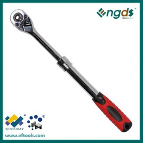 72T 24T  fast release ratchet wrench with telescopic handle