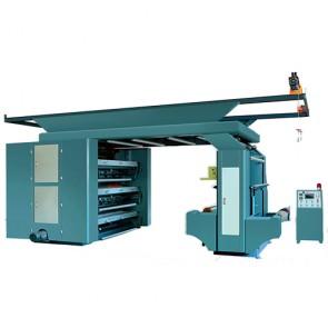 six color stack flexographic machine
